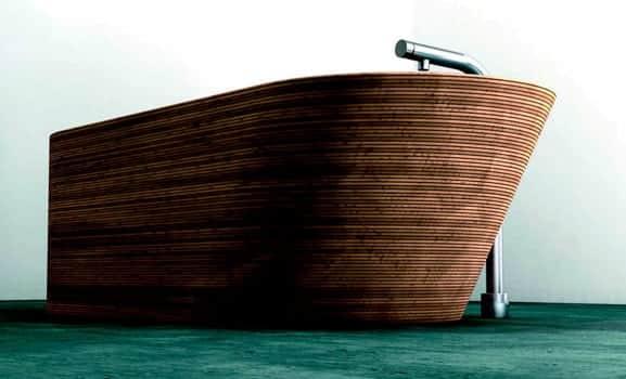 Traumhafte Badewannen aus Holz