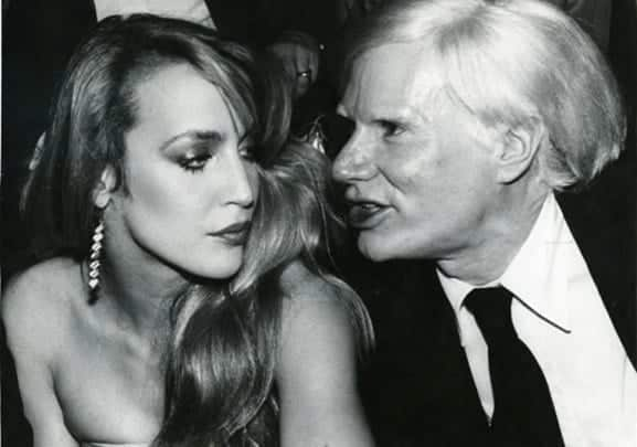Jerry Hall & Andy Warhol, Foto: Rose Hartman