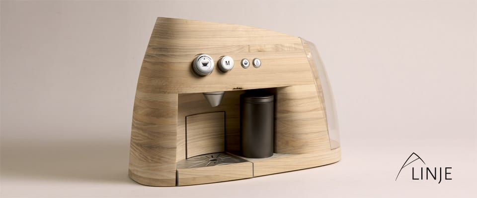 Linje - Espressomaschine aus Holz
