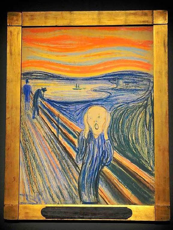 """""""Der Schrei"""" von Edvard Munch im MoMA"""