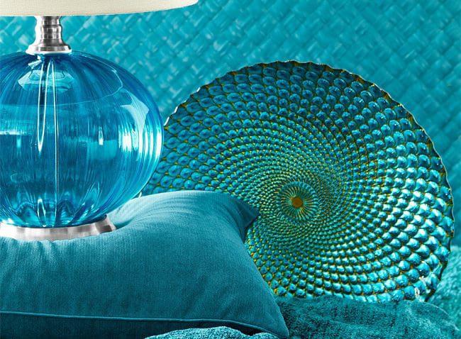 Blaue Tapete Mit Punkten : Der Pfau als Design-Motiv