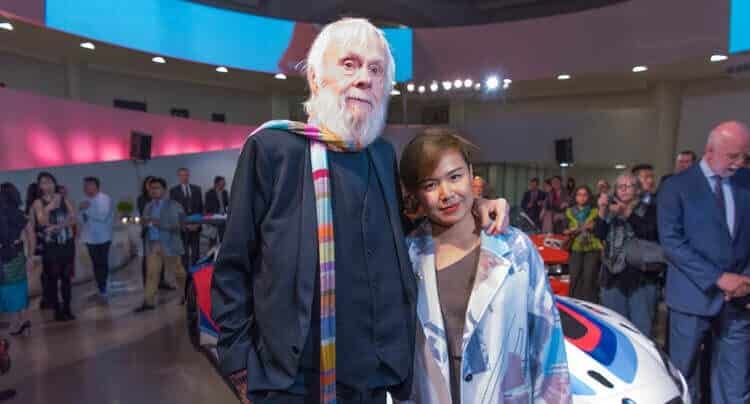 John Baldessari und Cao Fei, die neuen BMW Art Car Künstler, beim Verkündungsevent im Guggenheim Museum, New York. (11/2015) © BMW AG