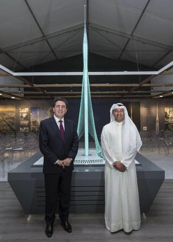 Santiago Calatrava Valls und Mohamed Alabbar, Vorstandsvorsitzender von Emaar Properties Foto: PRNewsFoto / Emaar
