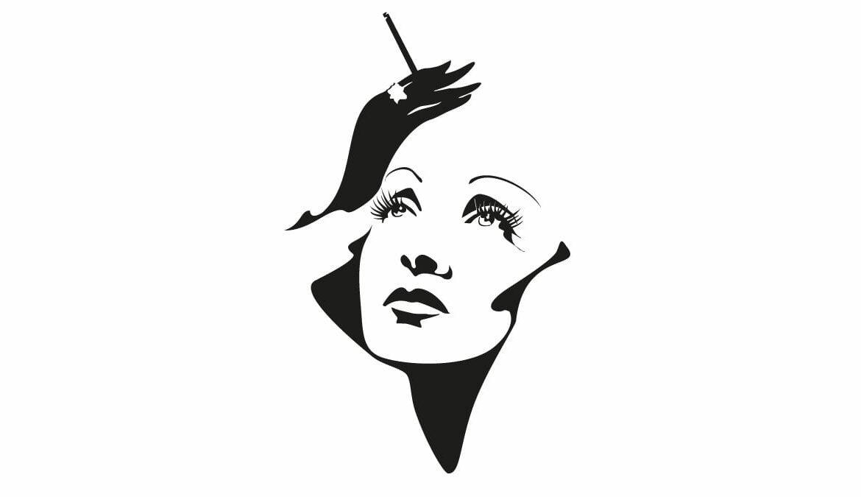 Portrait von Marlene Dietrich, Grafik: yuliana_s / Adobe Stock