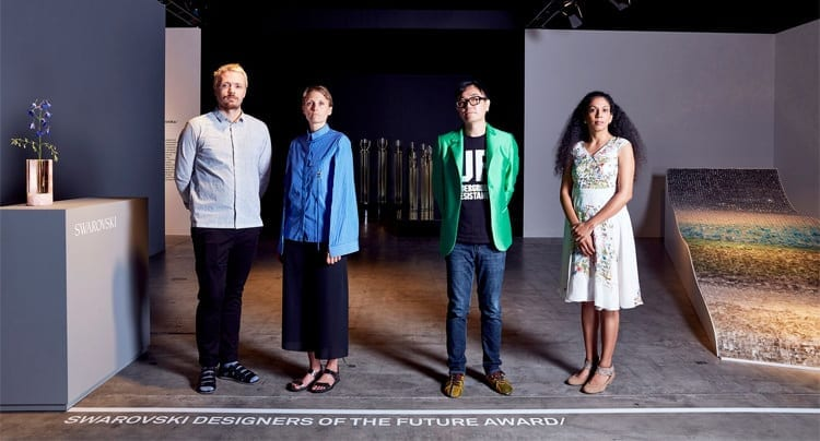2016 Swarovski Designers of the Future Award:  Studio Brynjar & Veronika, Yuri Suzuki, Anjali Srinivasan © Mark Cocksedge