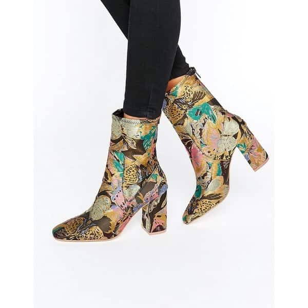 ASOS - ELMERY - Ankle-Boots in Jacquard - Mehrfarbig