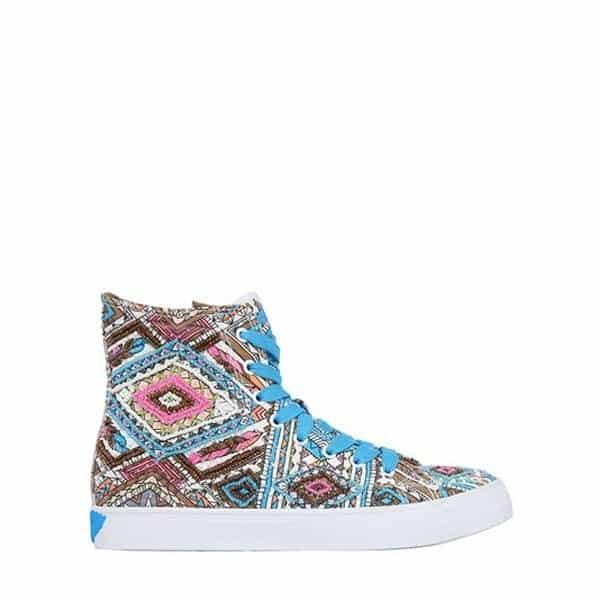 LK - Hohe Sneakers aus verziertem Canvas