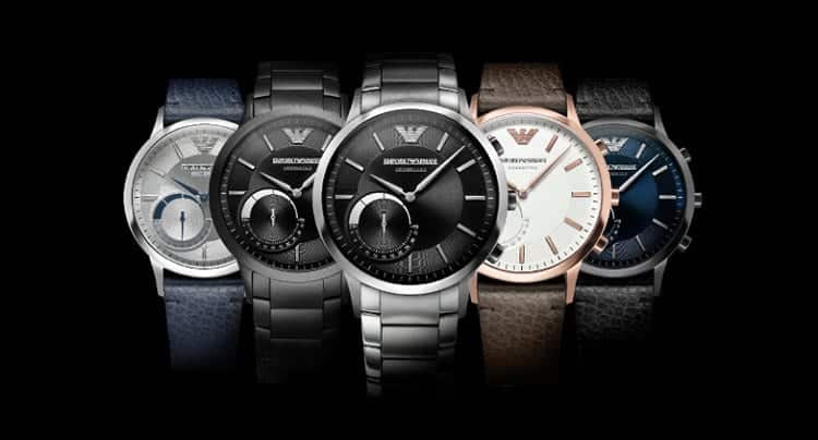 Die Emporio Armani Connected Hybrid Smartwatch Collection (PRNewsFoto/Emporio Armani)