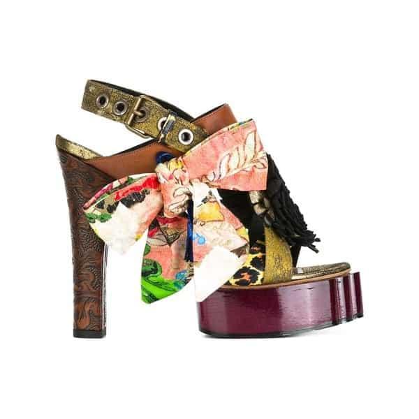 Vivienne Westwood buckled platform sandals, Damen, GröBe: 39, Mehrfarbig, Ziegenleder/Viskose
