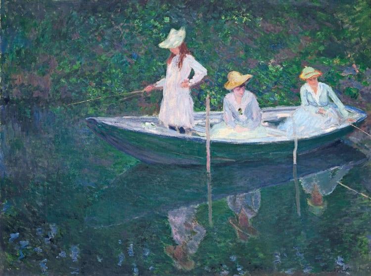 """Monet In der Barke 1887 © RMN Grand Palais Musée d Orsay Hervé Lewandowski - Anzeige: Städtetrip nach Basel zu """"Claude Monet"""""""
