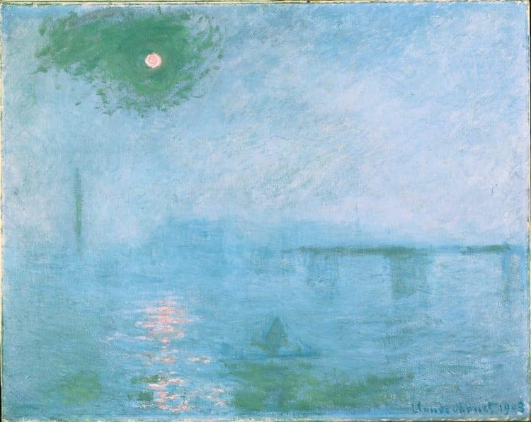 """Monet Nebel über der Themse 1903 © President and Fellows of Harvard College - Anzeige: Städtetrip nach Basel zu """"Claude Monet"""""""
