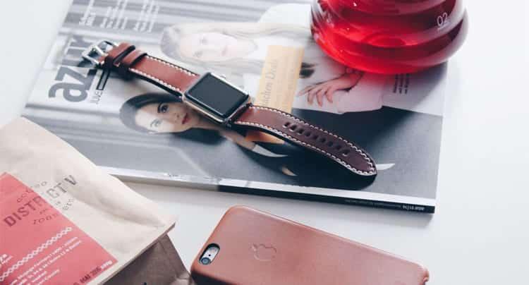 Apple Watch Armbänder aus bestem Leder, hergestellt in Deutschland