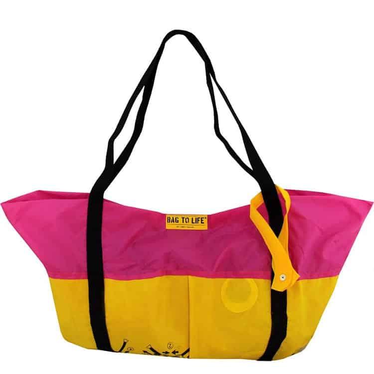 Bag To Life Strandtasche Pink, vandebord.de