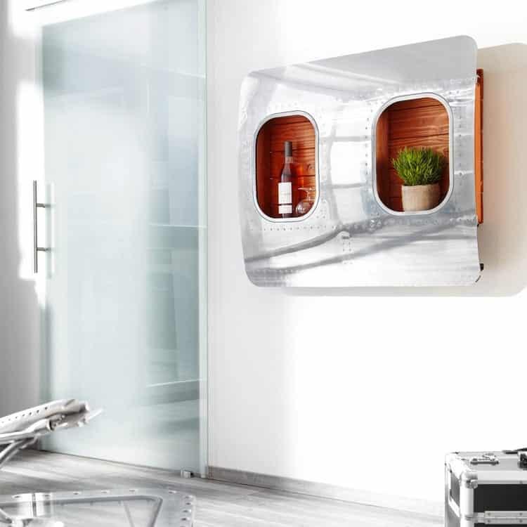 """Boeing Doppelfenster Bar """"Rühmann"""", flugzeugmoebel.de"""