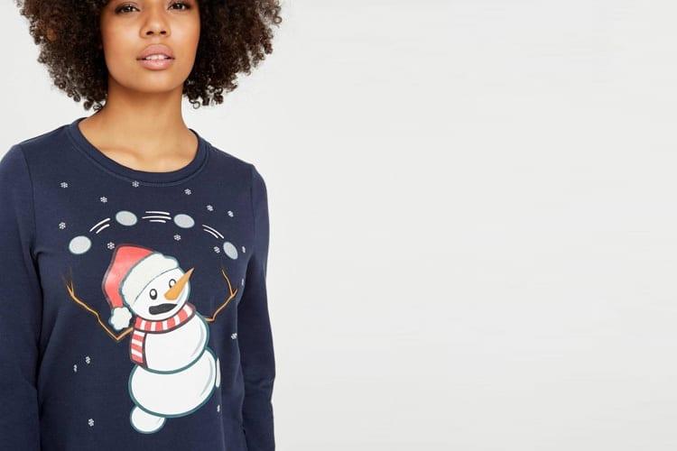 Weihnachts-Sweater mit langen Ärmeln von VERO MODA