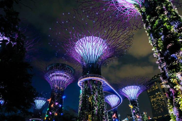 Ultra Violet Gardens by the Bay Singapur - Pantone Farbe des Jahres 2018: Ultra Violet