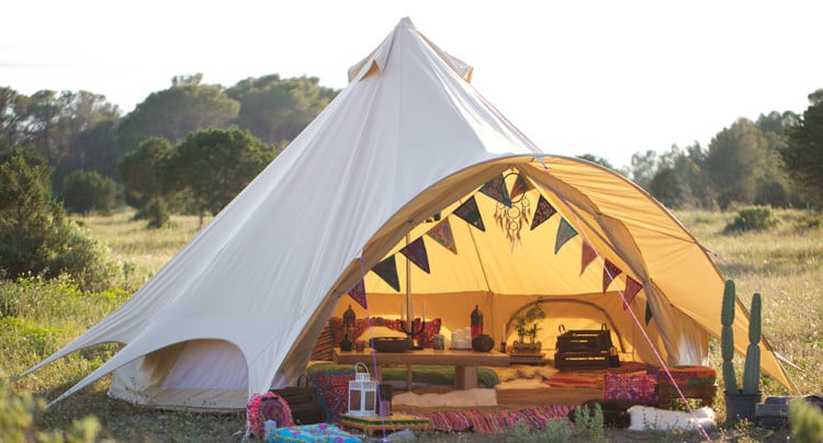 Glamping vom Allerfeinsten mit der Star Bell Tent-Kollektion