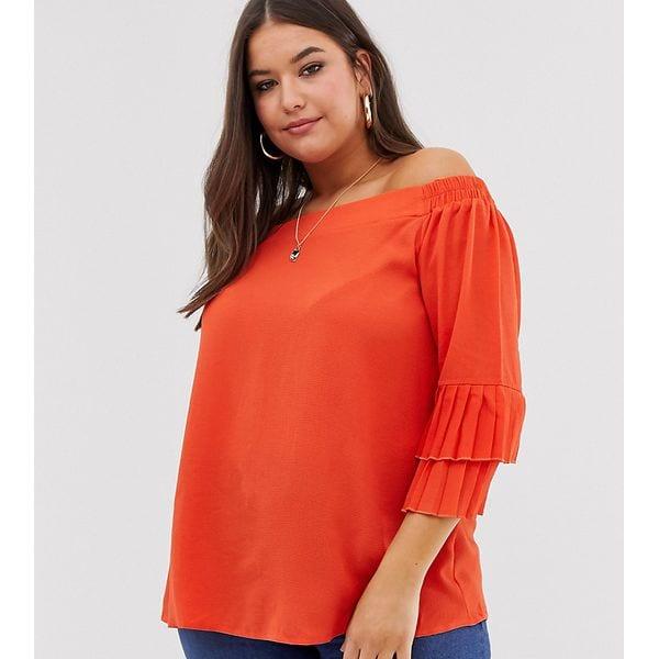 Lovedrobe – Carmenbluse mit mehrlagigen Ärmeln-Orange, ASOS