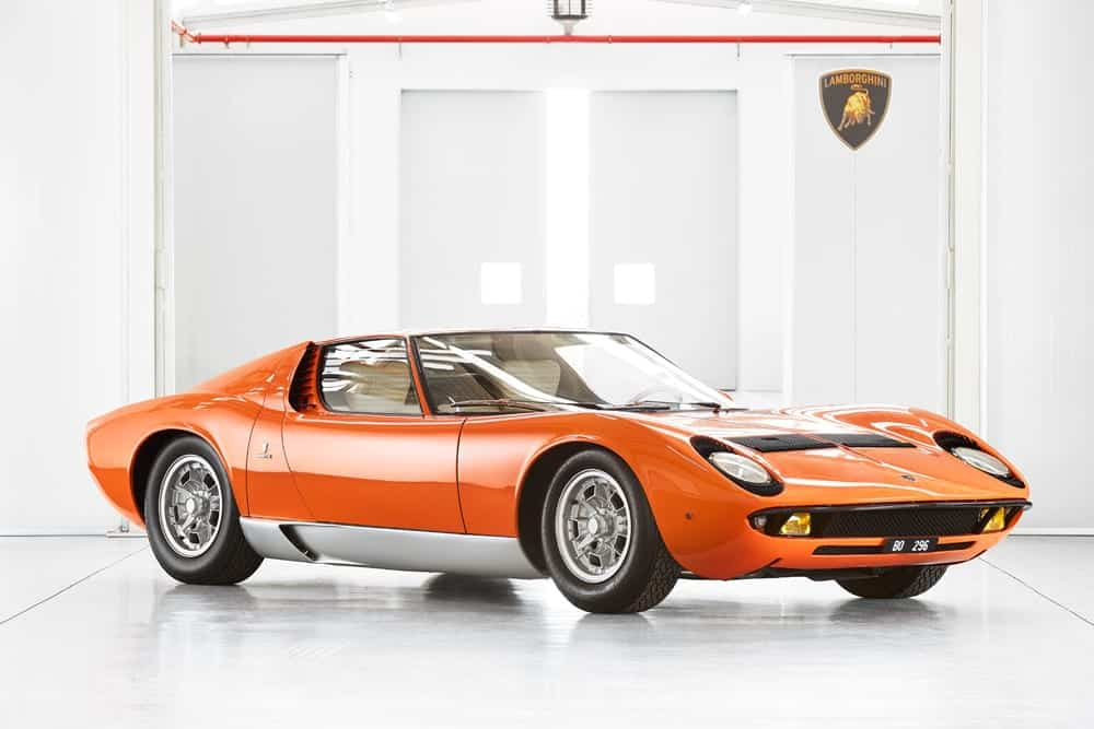 Lamborghini P400 Miura «The Italian Job» de 1968. Collection Fritz Kaiser © The Classic Car Trust