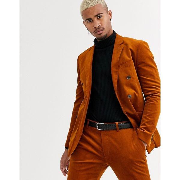 Anzug aus braunem Cord von Topman