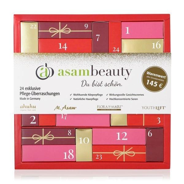 Luxuriöser Adventskalender mit 24 exklusiven Pflege- & Kosmetiküberraschungen im Gesamtwert von 145 €