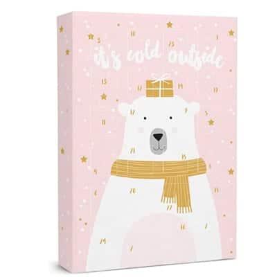 SIX Schmuck-Adventskalender mit Eisbär-Design: 24 Überraschungen in Form schöner Schmuckstücke wie Charms, Ohrringe, Ketten und Armbänder