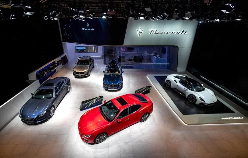 """Ausstellungsfläche von Maserati auf der """"Auto China 2020"""", Foto: Maserati Media"""