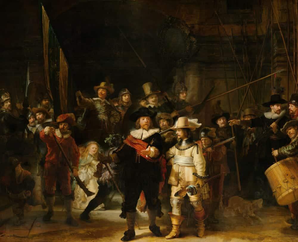 """""""Die Nachtwache"""" von Rembrandt van Rijn, 1642 (Maße: 3,63 m x 4,37 m), Foto: Rijksmuseum Amsterdam"""