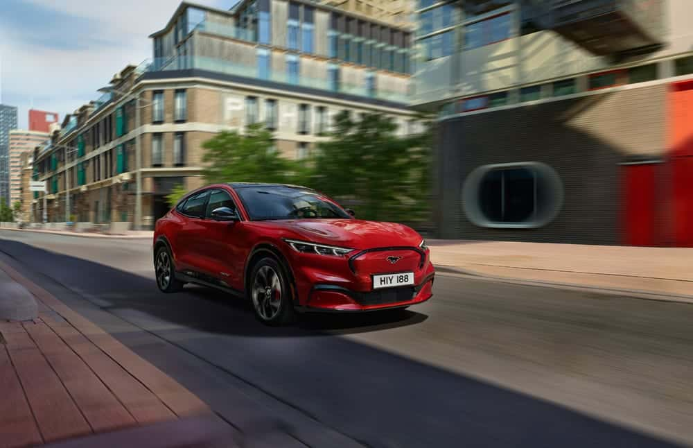 Der neue Ford Mustang Mach-E GT in Rot, Foto: obs/Ford-Werke GmbH