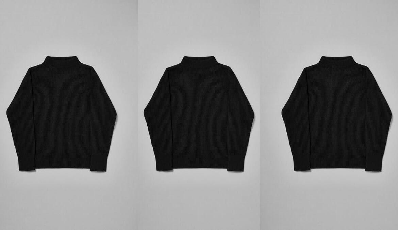 The Sweater von Goldwin aus Brewed Protein (30%) und Baumwolle (70%), Foto: Goldwin