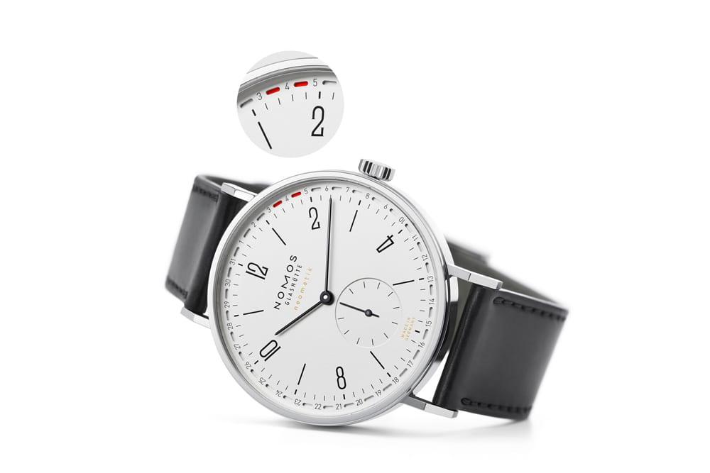 """NOMOS Tangente ist die wohl bekannteste mechanische Armbanduhr made in Germany. Auch in ihrer jüngsten Version, Tangente neomatik Update, ist sie ein Glashütter Bestseller. Mit hauseigenem Automatikgetriebe und patentiertem Ringdatum, eben """"Update"""", Foto: NOMOS Glashütte"""