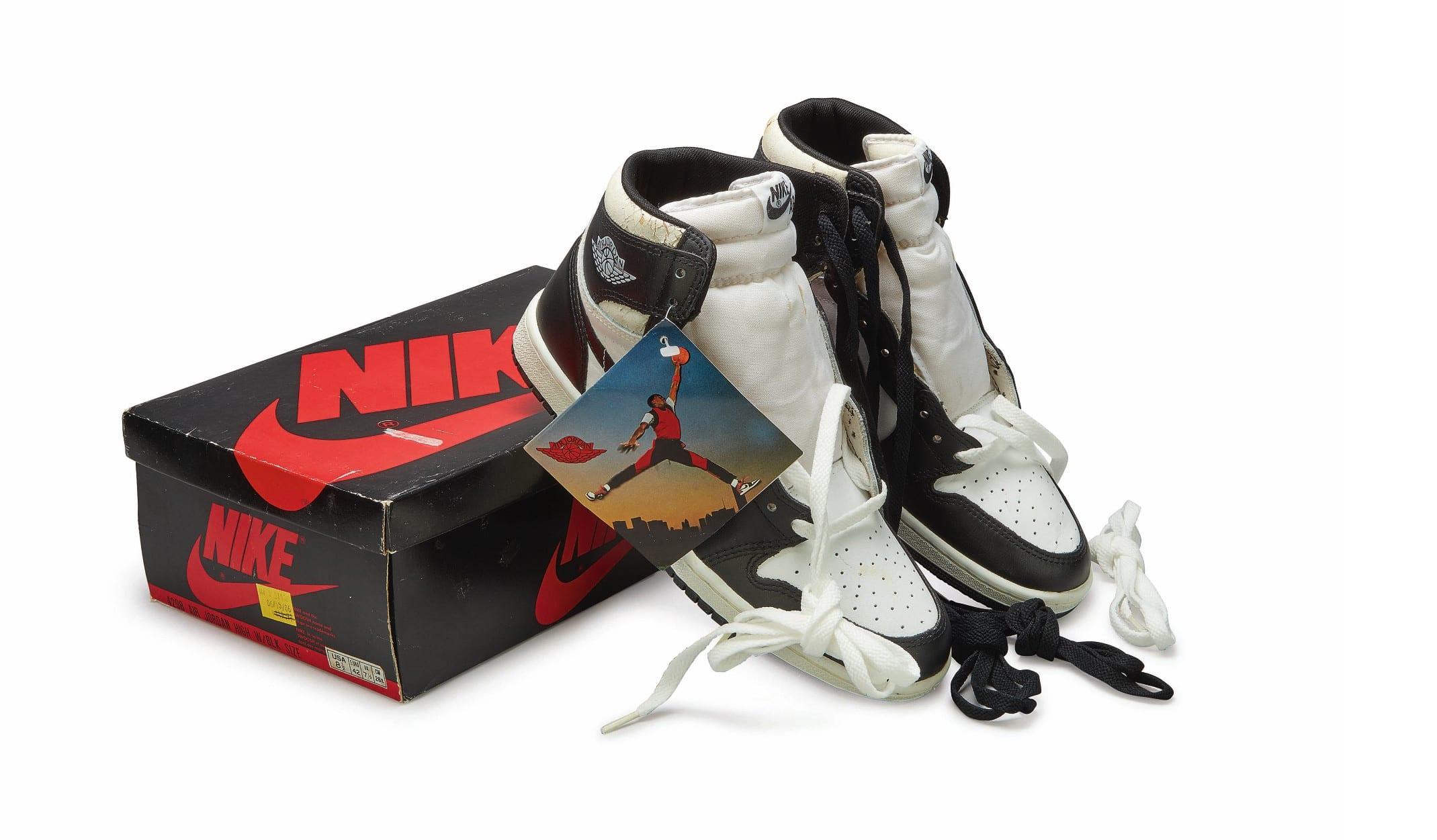 Nike Air Jordan 1 High OG (1985) 'Black & White', Foto: Sotheby's