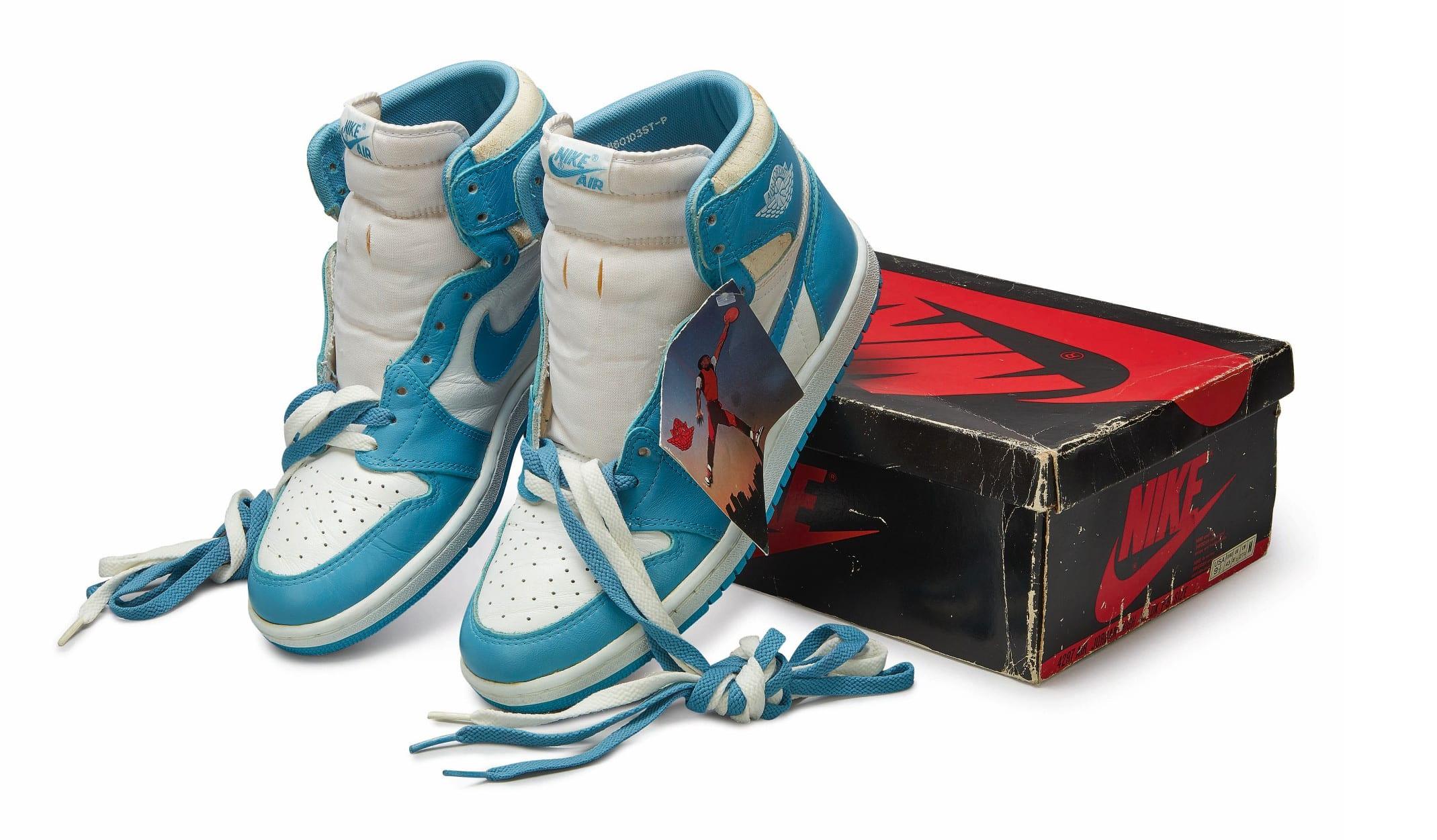 Nike Air Jordan 1 High OG (1985) 'Carolina Blue', Foto: Sotheby's