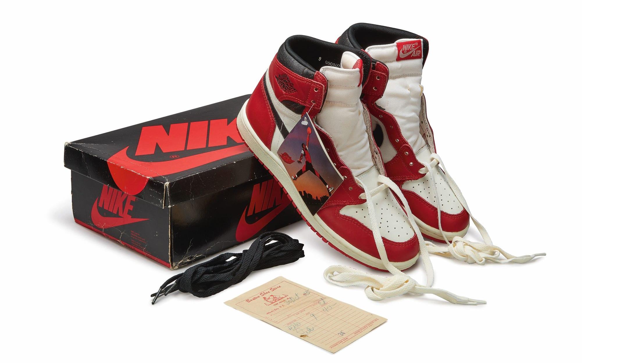 Nike Air Jordan 1 High OG (1985) 'Chicago', Foto: Sotheby's