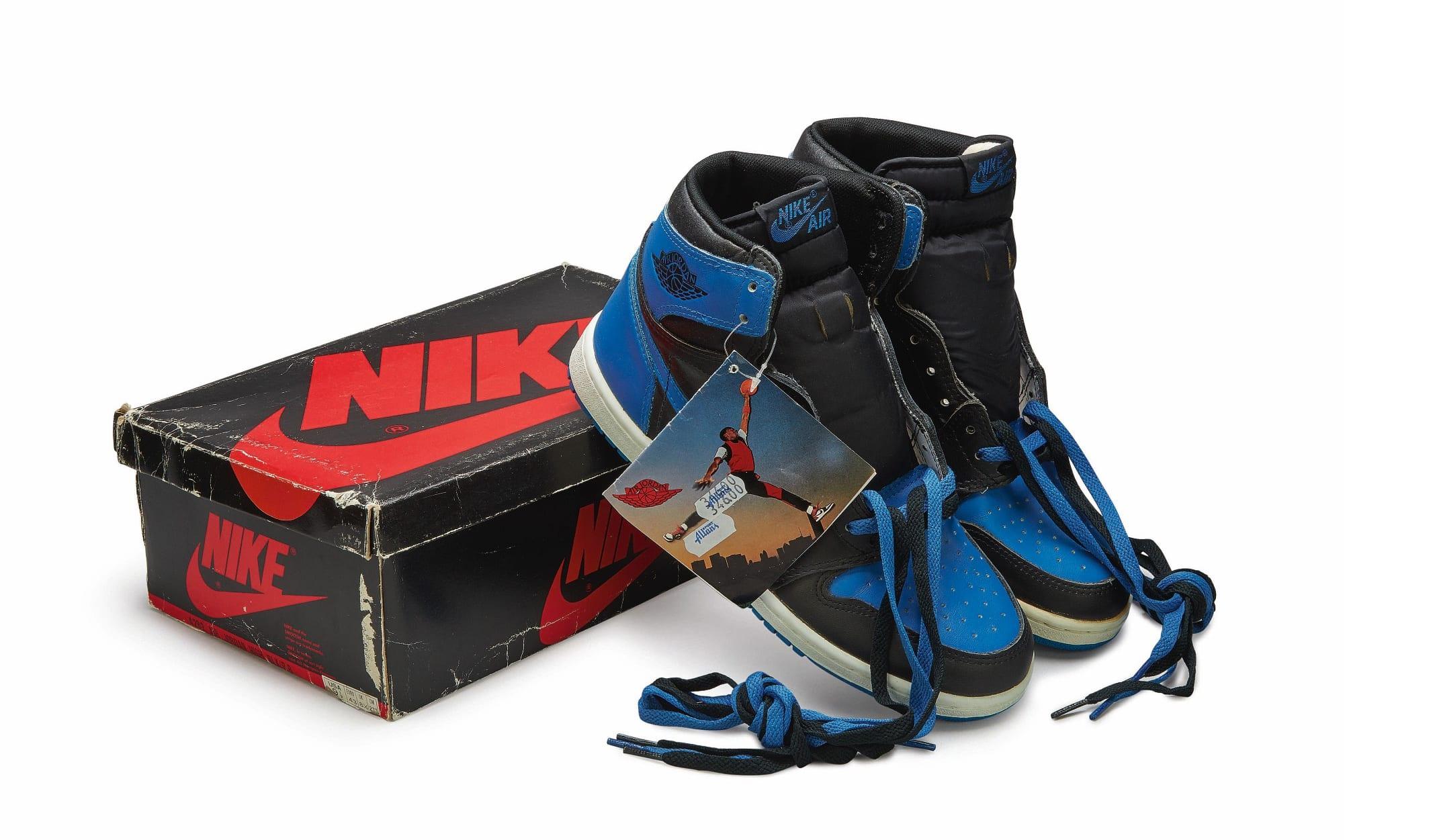 Nike Air Jordan 1 High OG (1985) 'Royal', Foto: Sotheby's