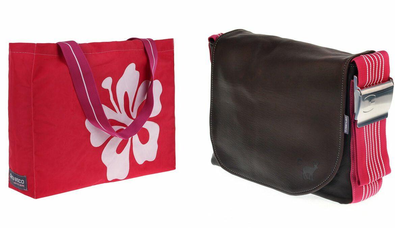 Links: Beach, Canvas Collection; rechts: Bag S, Deer Collection, Fotos: canvasco.de