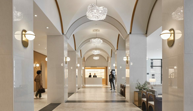 Eingangsbereich des Marriott Château Champlain Hotels, Foto: MAXIME BROUILLET