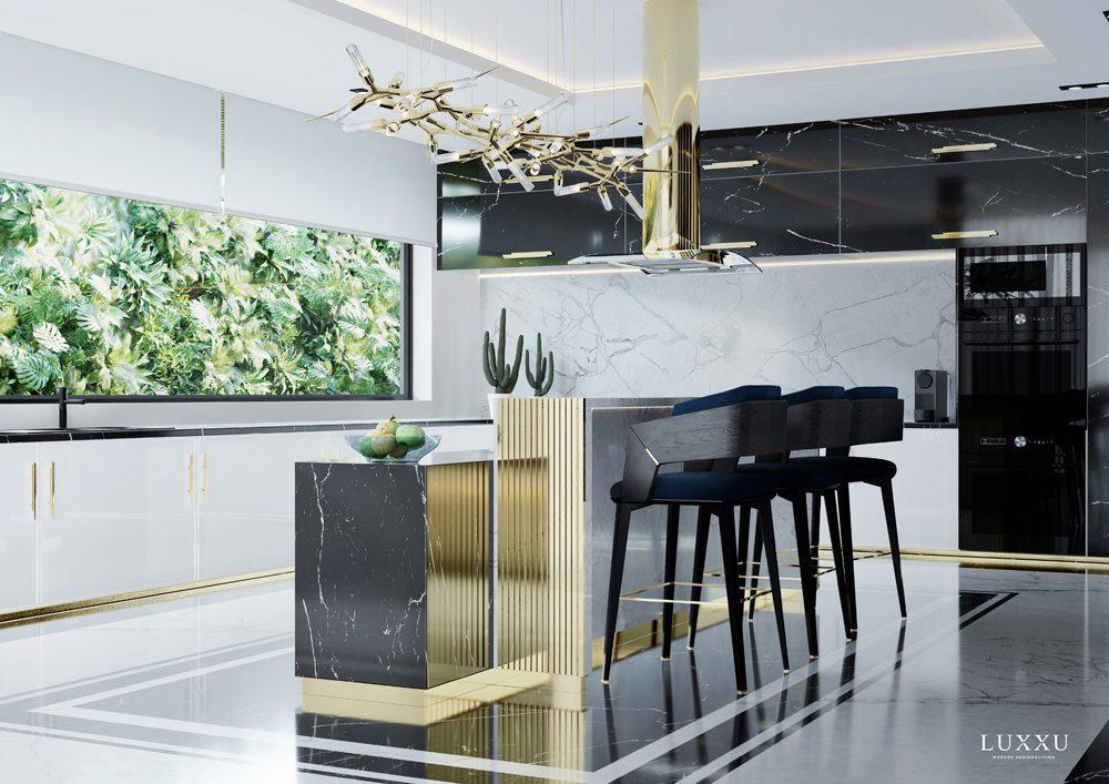 In der Küche wurde u.a. Marmor verarbeitet, Foto: LUXXU