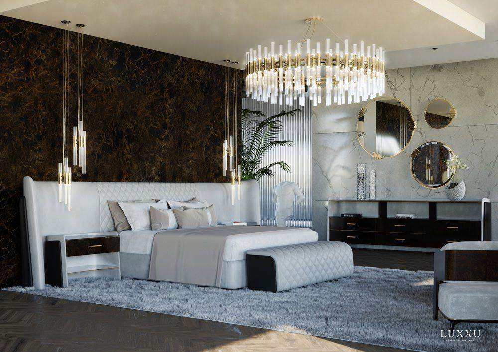 Ein Teil der Master-Suite: der Schlafbereich, Foto: LUXXU
