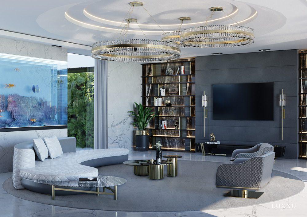 Im Wohnzimmer kann man entspannen, Foto: LUXXU